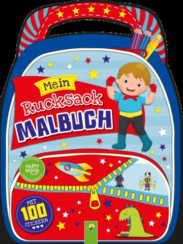 Happydadoo rucksack malbuch blau