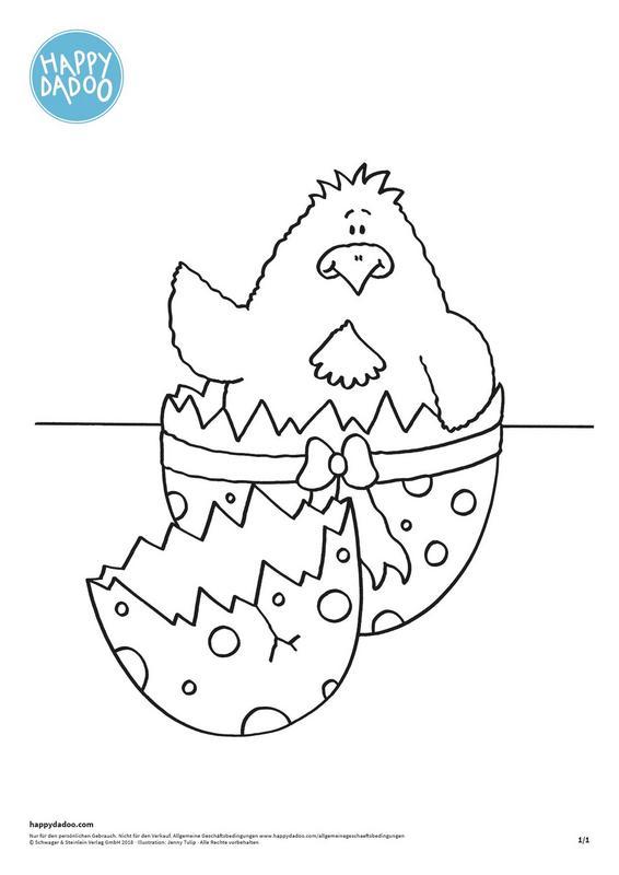 Content d351 ausmalbild kueken osterei