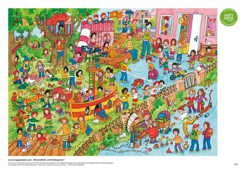 Content d369 wimmelbild kindergarten happydadoo