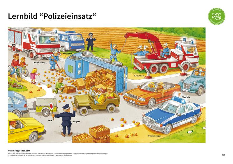 Content d377 lernbild polizeieinsatz happydadoo