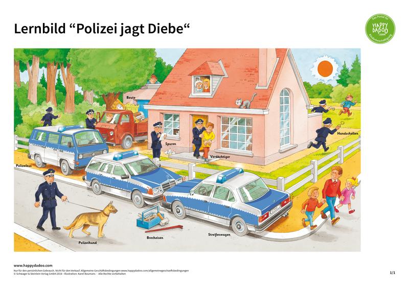 Content d378 lernbild polizei diebe happydadoo