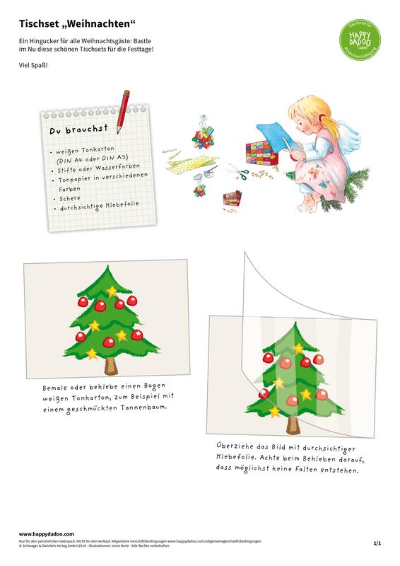Content d420 tischset weihnachten happydadoo