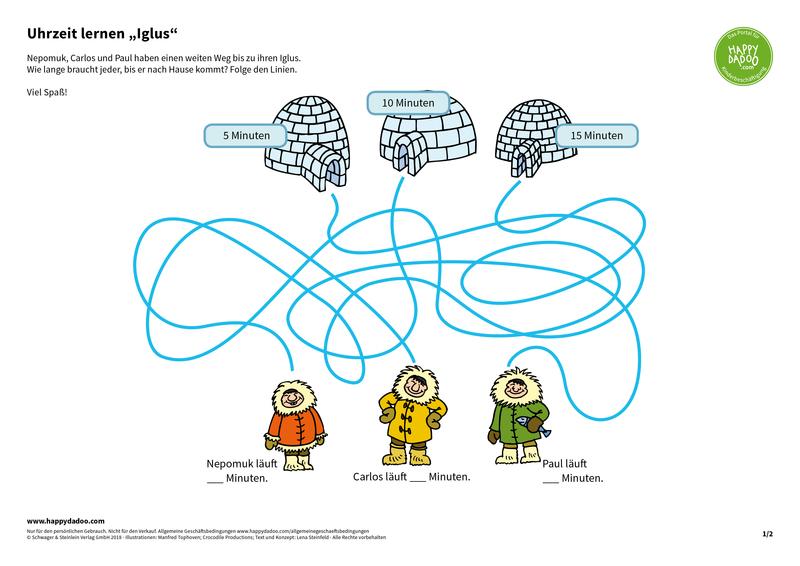 Content d412 uhrzeit lernen iglus happydadoo