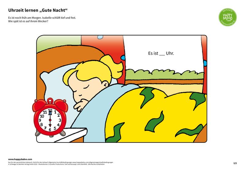 Content d414 uhrzeit lernen gute nacht happydadoo