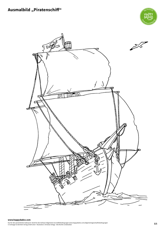 Content d431 ausmalbild piratenschiff happydadoo