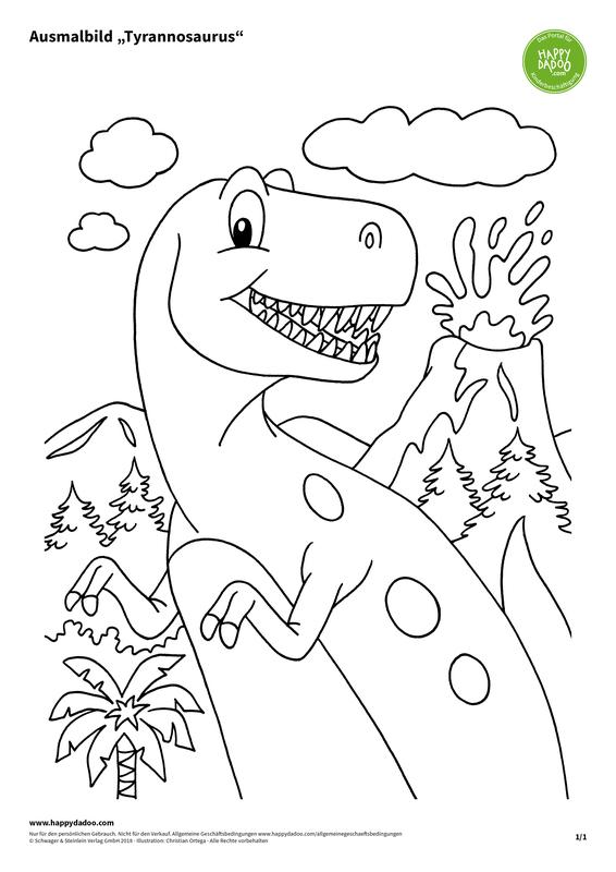 Content d432 ausmalbild tyrannosaurus happydadoo