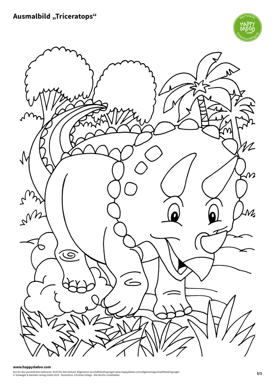 Content d434 ausmalbild triceratops happydadoo