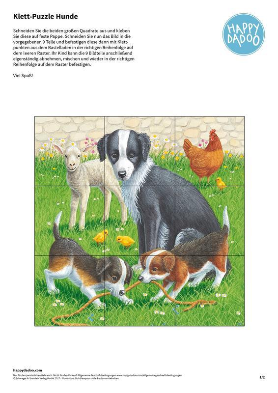 Content bastelanleitung klett puzzle happydadoo
