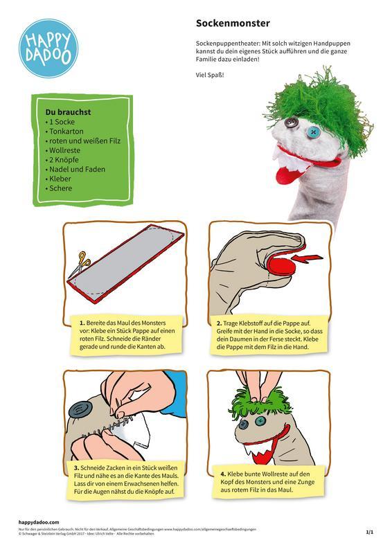 Sockenmonster Anleitung