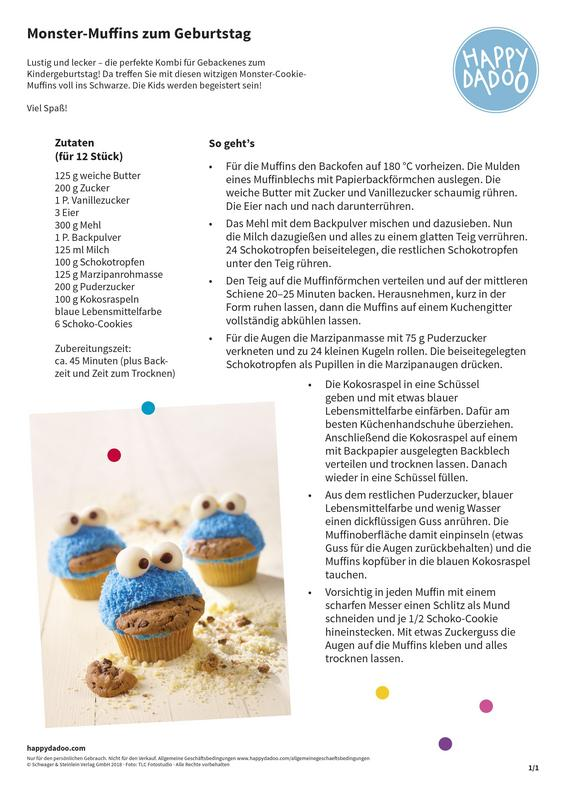 Content d290 backen monster cupcakes zum kindergeburtstag happydadoo