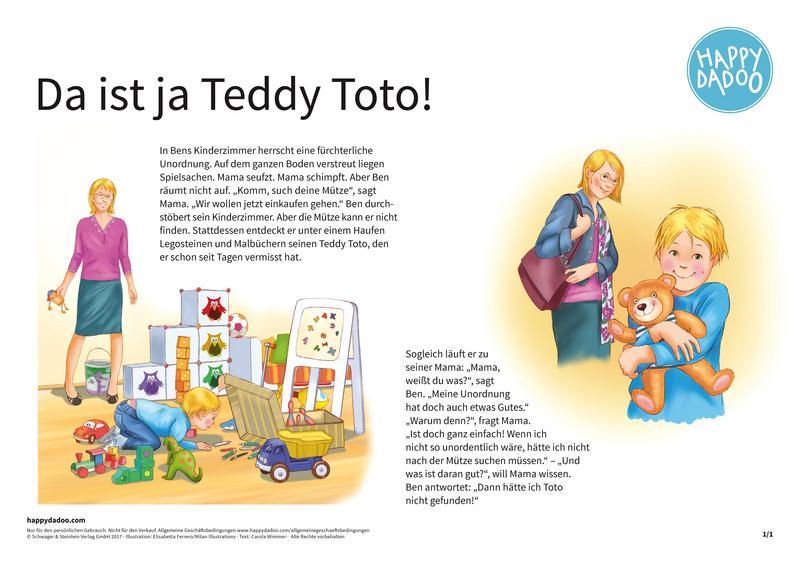 Content geschichte da ist ja teddy toto happydadoo