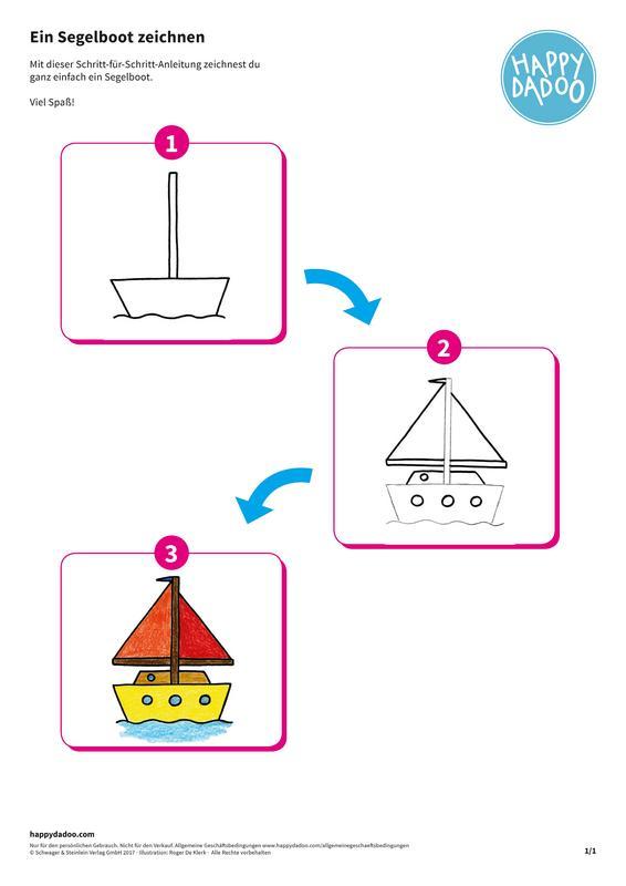 Content zeichenanleitung segelboot happydadoo