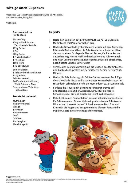 Content d186 rezept witzige affen cupcakes happydadoo